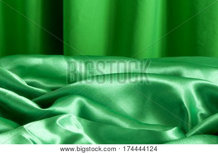 A Background Green Fabric