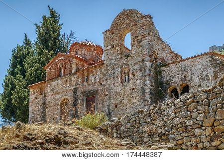 Church of Evangelistria in Mystras in Greece