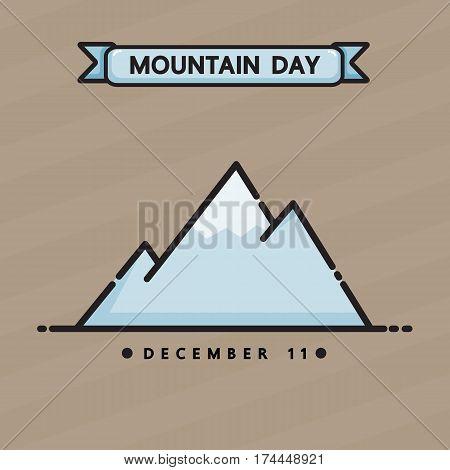 International mountain day vector cartoon design .