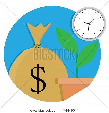 Increase of capital icon. Banking capital investment and profit vector illustration