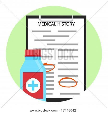 Treatment of patient. Health industry and clinical diagnosis vector illustration