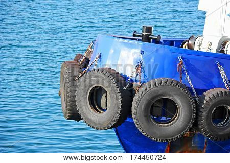 Tyre Fender On Tugbooat