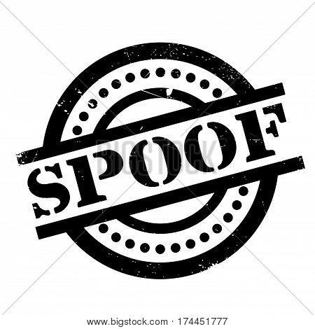 Spoof rubber stamp. Grunge design with dust scratches. Effects can be easily removed for a clean, crisp look. Color is easily changed.