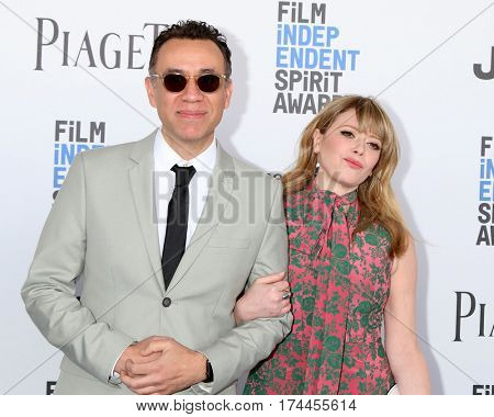 LOS ANGELES - FEB 25:  Fred Armisen, Natasha Lyonne at the 32nd Annual Film Independent Spirit Awards at Beach on February 25, 2017 in Santa Monica, CA
