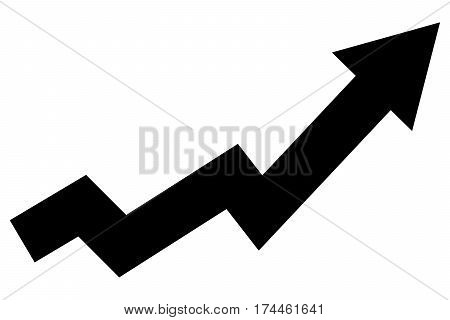 Arrow graph going up drawing economy education