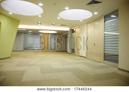 modern hallway in office building