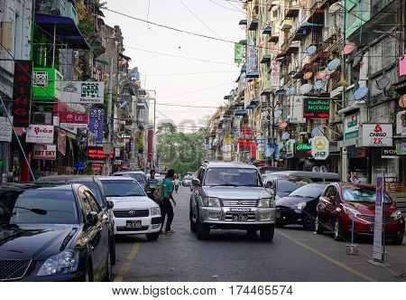 Old Apartments In Yangon, Myanmar