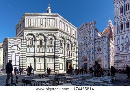 Baptistery Of Saint John On Piazza Del Duomo