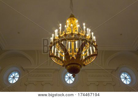 Large Chandelier On The Ceiling