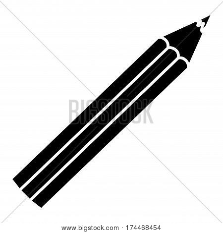 contour color pencil icon stock, vector illustraction design image