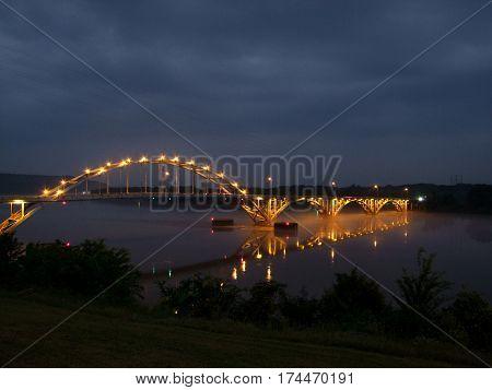 Ozark Arkansas Highway 23 Bridge Over Arkansas River
