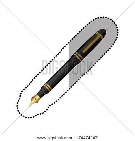 color figure ballpoint icon, vector illustraction design