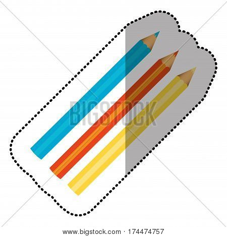 colors pencils icon stock, vector illustraction design image
