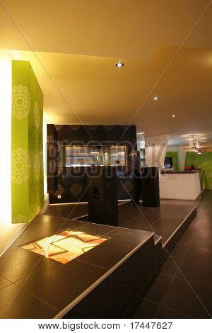 ambient light in modern restaurant