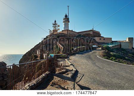 Lighthouse of Cabo de Gata-Nijar Natural Park south-eastern corner of Spain