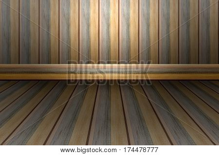 Wall and floor brown gray and yellow wood for background