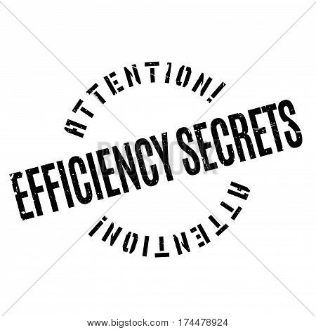 Efficiency Secrets rubber stamp. Grunge design with dust scratches. Effects can be easily removed for a clean, crisp look. Color is easily changed.