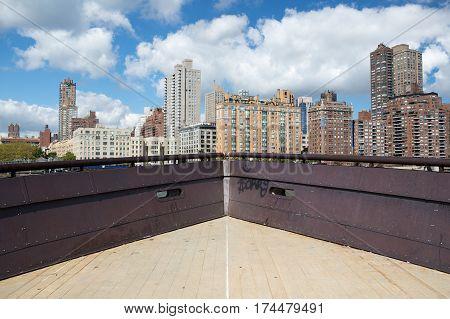Manhattan buildings as seen from Roosevelt island