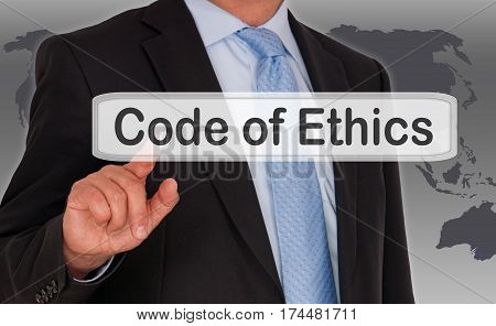 Code of Ethics - Manager with touchscreen