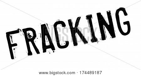 Fracking rubber stamp. Grunge design with dust scratches. Effects can be easily removed for a clean, crisp look. Color is easily changed.