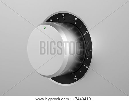 Control Knob 3D Illustration
