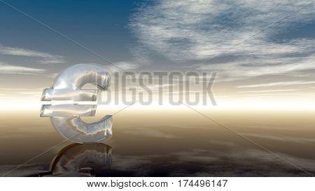 euro symbol under cloudy blue sky - 3d illustration