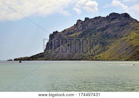 The mountain is a volcanic massif of Kara-Dag. Crimea