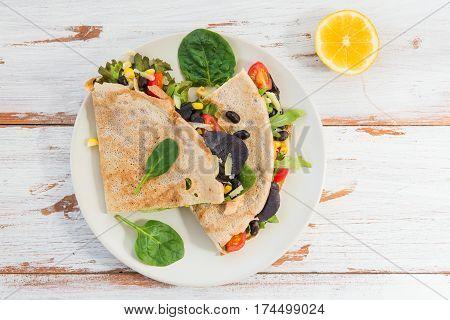 Savoury Buckwheat Pancake Or Quesadilla