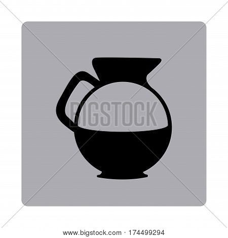 figure emblem water pitcher icon, vector illustraction design