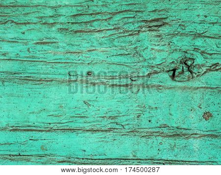the wood texture with old green and blue paint