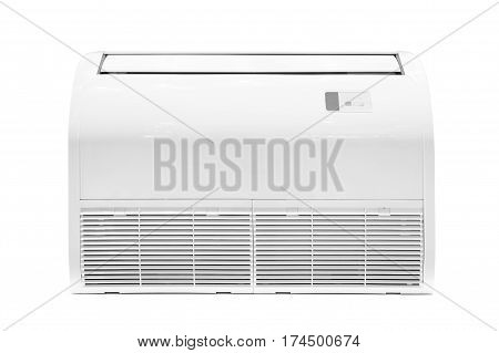 Air conditioner Floor mounted installation at floor level indoor floor-mounted compact design isolated on white background