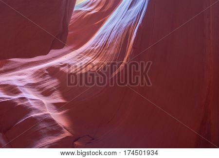 Natural stone background. Slot Antelope canyon natural landmark. Navajo Reservation Arizona USA