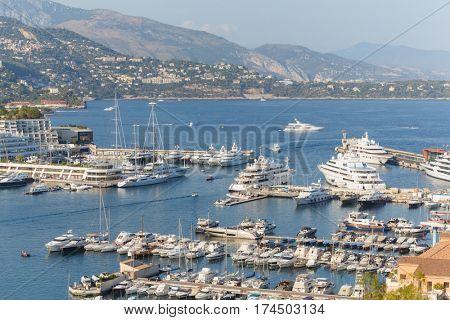 Panorama of La Condamine and Monte Carlo from lookout near Monaco