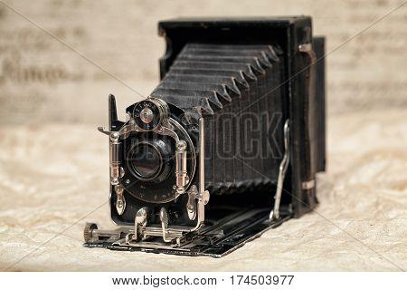 vintage camera. Old camera, ancient camera, retro style