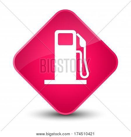 Fuel Dispenser Icon Elegant Pink Diamond Button
