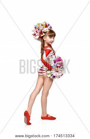 Cheerleader Girl Standing Back