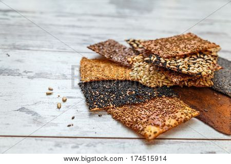 Thin Healthy Seed Crackers