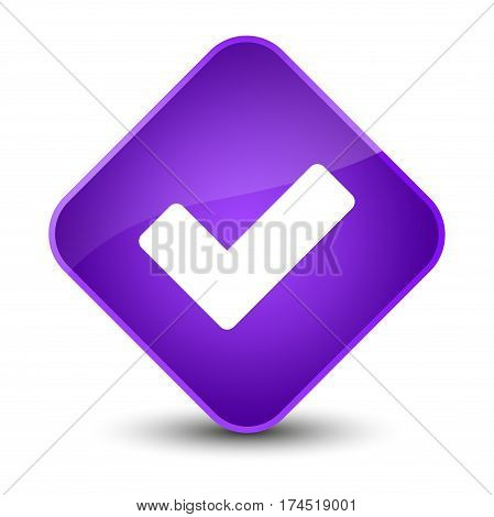 Validate Icon Elegant Purple Diamond Button