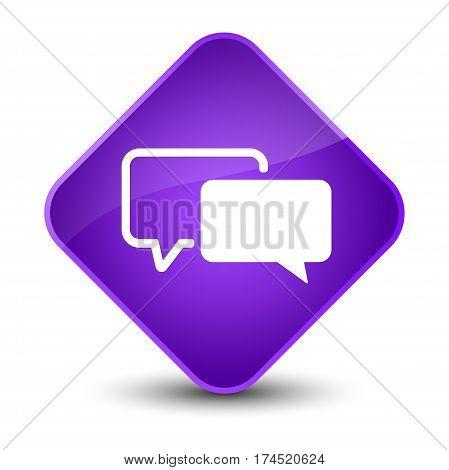 Testimonials Icon Elegant Purple Diamond Button