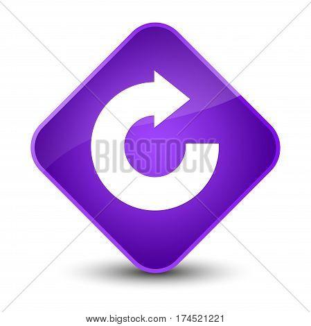 Reply Arrow Icon Elegant Purple Diamond Button