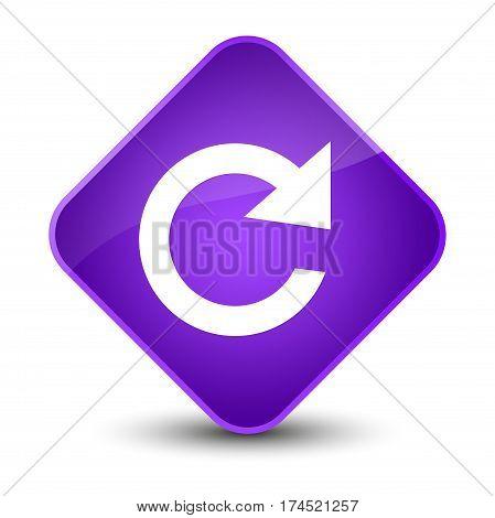 Reply Rotate Icon Elegant Purple Diamond Button
