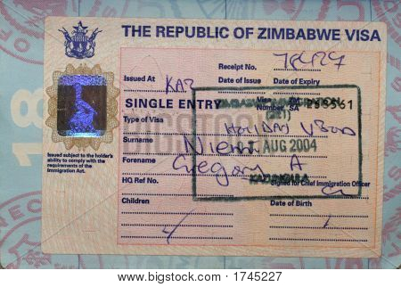 Zimbabwe Visa On Us Passport