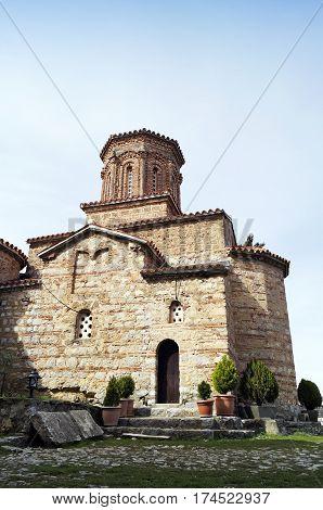 Saint Naum monastery located near the city of Ohrid Macedonia