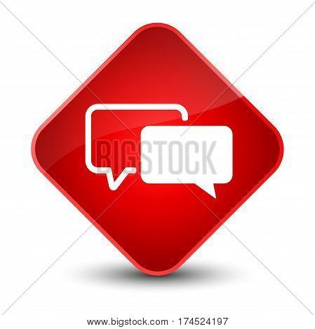 Testimonials Icon Elegant Red Diamond Button