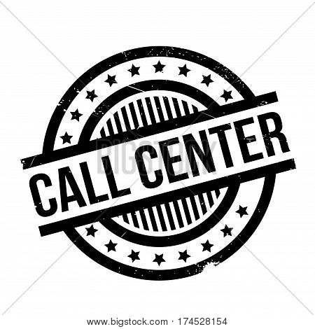 Call Center rubber stamp. Grunge design with dust scratches. Effects can be easily removed for a clean, crisp look. Color is easily changed.