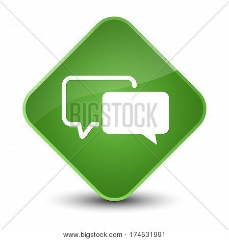 Testimonials Icon Elegant Soft Green Diamond Button