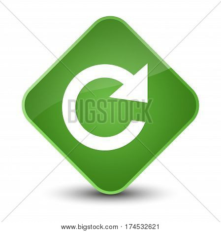 Reply Rotate Icon Elegant Soft Green Diamond Button