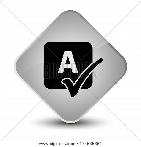 Spell Check Icon Elegant White Diamond Button