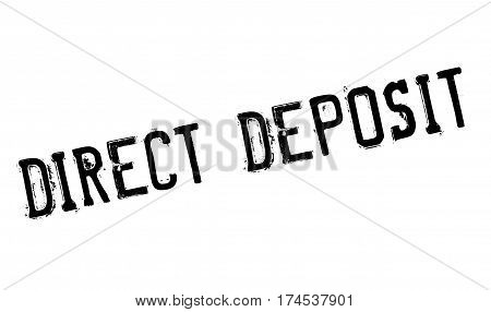 Direct Deposit rubber stamp. Grunge design with dust scratches. Effects can be easily removed for a clean, crisp look. Color is easily changed.