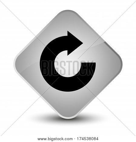 Reply Arrow Icon Elegant White Diamond Button